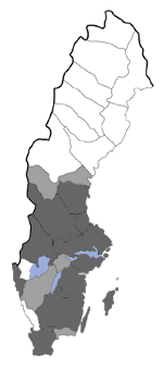 Distribution map - Acleris rufana