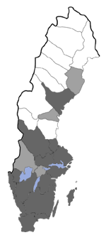 Distribution map - Acleris sparsana