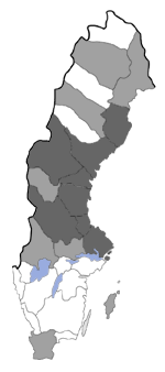 Distribution map - Acleris umbrana