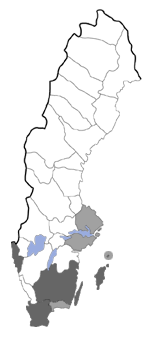 Distribution map - Aethes francillana