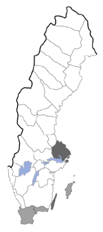 Distribution map - Bedellia somnulentella