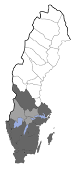 Distribution map - Borkhausenia minutella