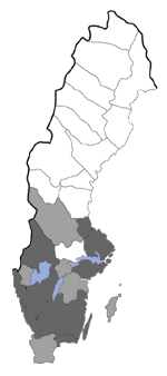 Distribution map - Coleophora gryphipennella