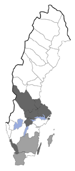 Distribution map - Coleophora scabrida