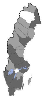 Distribution map - Elachista alpinella