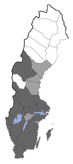Distribution map - Eulamprotes unicolorella