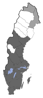 Distribution map - Eupithecia denotata