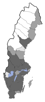 Distribution map - Eupithecia goossensiata