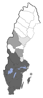 Distribution map - Eupithecia subumbrata