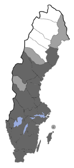 Distribution map - Eupithecia tantillaria