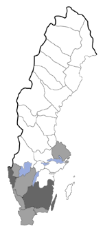 Distribution map - Fagivorina arenaria