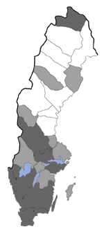 Distribution map - Glyphipterix forsterella