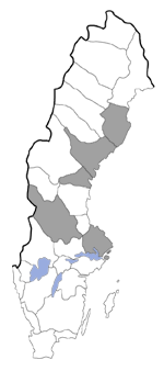 Distribution map - Gnorimoschema nordlandicolellum