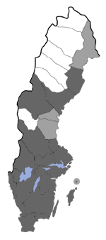 Distribution map - Gracillaria syringella