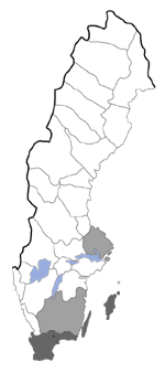 Distribution map - Hadena filograna