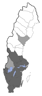 Distribution map - Micropterix aruncella