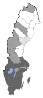 Distribution map - Micropterix calthella
