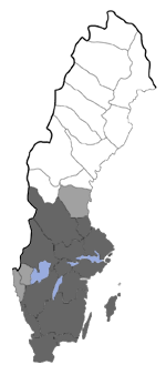 Distribution map - Miltochrista miniata