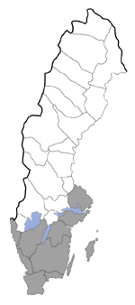 Distribution map - Ochsenheimeria mediopectinella