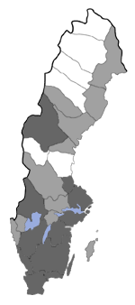 Distribution map - Ochsenheimeria urella
