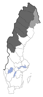 Distribution map - Oeneis norna