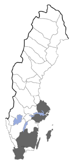 Distribution map - Pelochrista caecimaculana