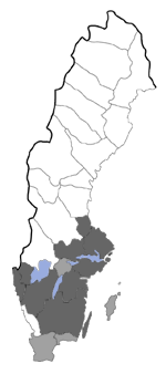 Distribution map - Povolnya leucapennella