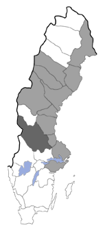 Distribution map - Scythris noricella