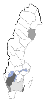Distribution map - Tebenna bjerkandrella