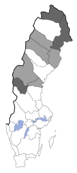 Distribution map - Xestia distensa