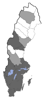 Distribution map - Ypsolopha nemorella